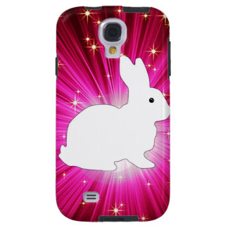 Light Rays Colorful And White Bunny Galaxy S4 Case