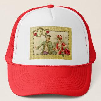 Light Rays Soft Gold Love Hearts Frame Romantic Trucker Hat