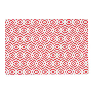 Light Red and White Diamond Pattern Placemat