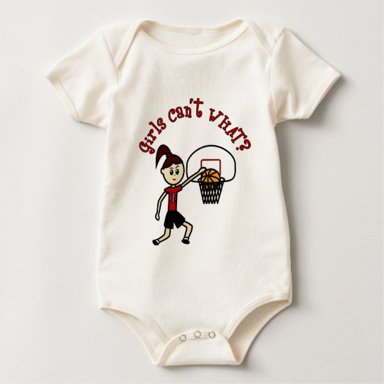 Light Red Basketball Baby Bodysuit