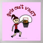 Light Red Basketball Poster
