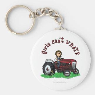 Light Red Farmer Girl Key Chains
