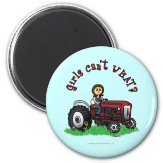 Light Red Farmer Girl Magnet