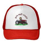 Light Red Farmer Girl Mesh Hats