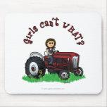 Light Red Farmer Girl Mouse Pad