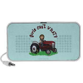Light Red Farmer Girl iPhone Speaker
