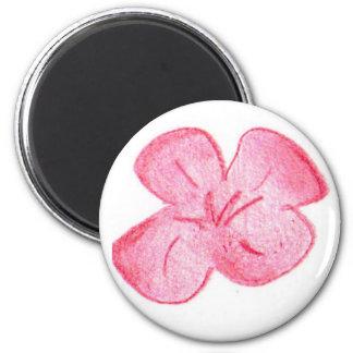 Light red flower fridge magnet