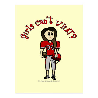 Light Red Football Post Cards