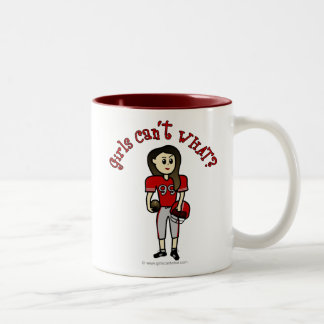Light Red Football Two-Tone Coffee Mug