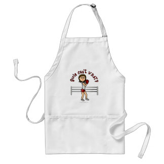 Light Red Girl Boxer Adult Apron