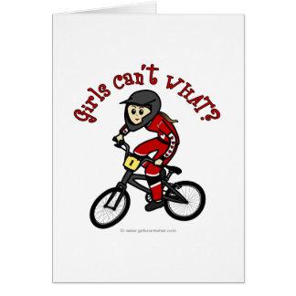 Light Red Girls BMX Card