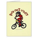Light Red Girls BMX Greeting Card