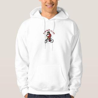 Light Red Girls BMX Hooded Sweatshirt