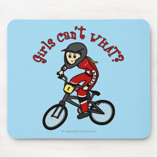Light Red Girls BMX Mouse Pad
