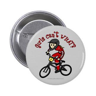 Light Red Girls BMX Pins