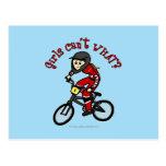 Light Red Girls BMX Postcard