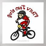LIght Red Girls BMX Print