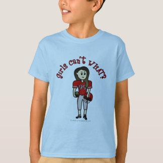 Light Red Girls Football T-Shirt