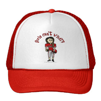 Light Red Girls Football Trucker Hat