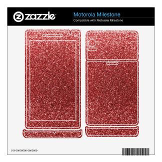 Light red glitter motorola milestone decal