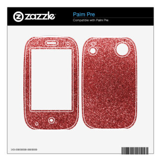 Light red glitter decals for palm pre