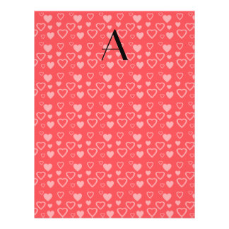 Light red hearts monogram personalized flyer