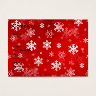 Light Red Snowflakes Business Card