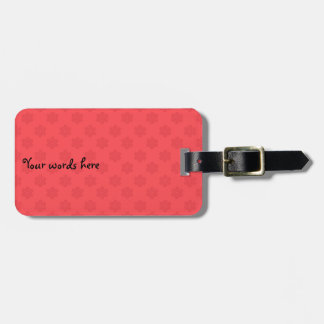 Light red snowflakes pattern luggage tag