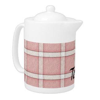 Light Red Tile Teapot