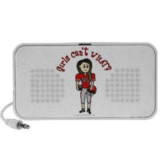 Light Red Womens Football iPhone Speaker