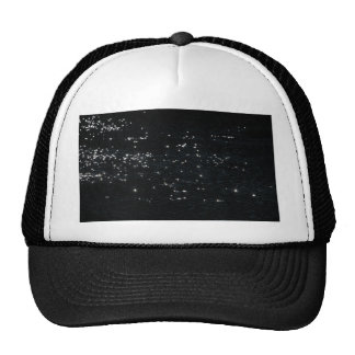Light reflection on the surface of a lake. trucker hat