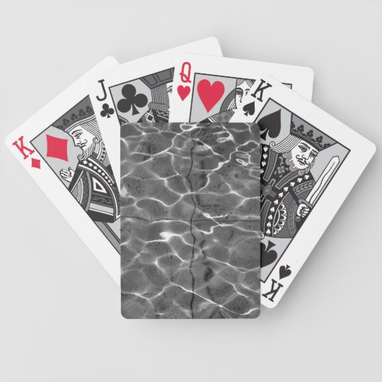 Light Reflections On Water: Black & White Bicycle Playing Cards