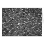 Light Reflections On Water: Black & White Greeting Card