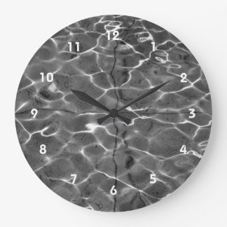 Light Reflections On Water: Black & White Clocks