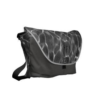 Light Reflections On Water: Black & White Courier Bag