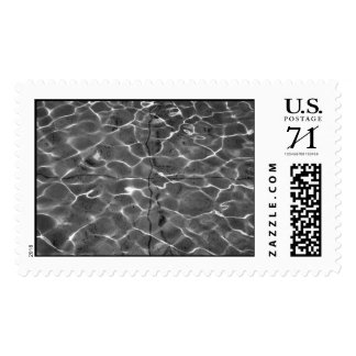 Light Reflections On Water: Black & White –  Large Stamp