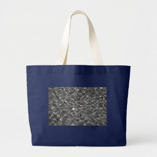 Light Reflections On Water: Black & White Large Tote Bag