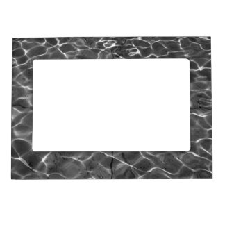 Light Reflections On Water: Black & White Magnetic Frame