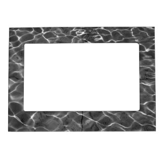 Light Reflections On Water: Black & White Photo Frame Magnet