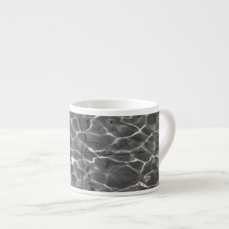 Light Reflections On Water: Black & White 6 Oz Ceramic Espresso Cup