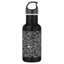 Light Reflections On Water: Black & White Stainless Steel Water Bottle