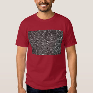 Light Reflections On Water: Black & White T Shirt