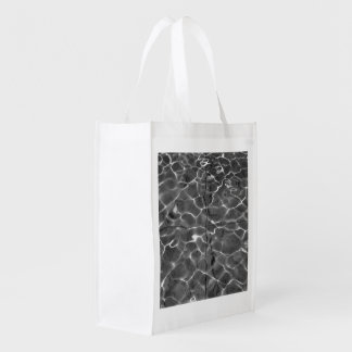 Light Reflections On Water: Black & White Market Totes