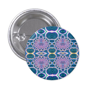 Light Rings Clear Blue Holographic Effect Art Pin