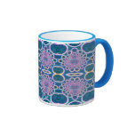 Light Rings Clear Blue Holographic Effect Art Coffee Mug