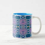 Light Rings Clear Blue Holographic Effect Art Coffee Mugs