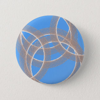 light rings in blue background abstract pinback button