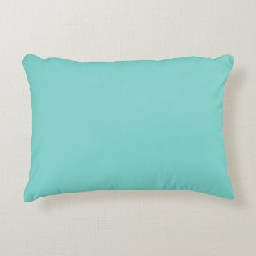 McTiffany Tiffany Aqua Light Robyn Blue Robin Egg Blue Color Background Accent Pillow