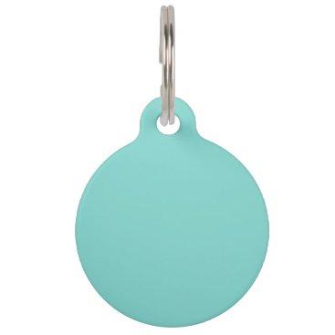 McTiffany Tiffany Aqua Light Robyn Blue Robin Egg Blue Color Background Pet ID Tag