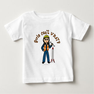 Light Rocket Scientist Girl Baby T-Shirt